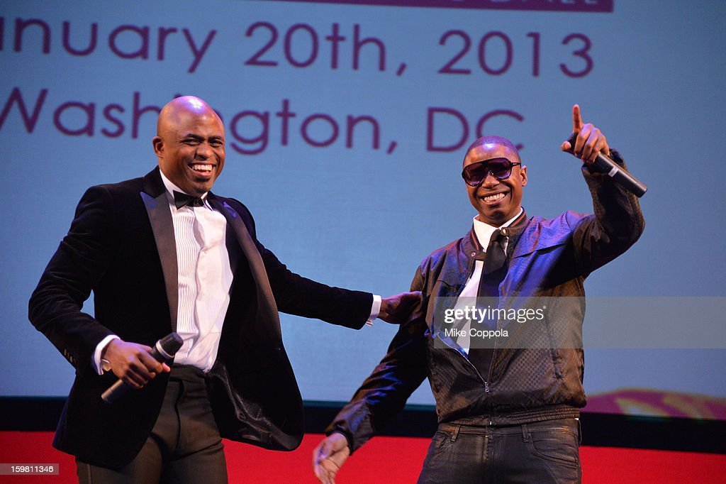 <a gi-track='captionPersonalityLinkClicked' href=/galleries/search?phrase=Wayne+Brady+-+Actor&family=editorial&specificpeople=217495 ng-click='$event.stopPropagation()'>Wayne Brady</a> and <a gi-track='captionPersonalityLinkClicked' href=/galleries/search?phrase=Doug+E.+Fresh&family=editorial&specificpeople=207004 ng-click='$event.stopPropagation()'>Doug E. Fresh</a> perform onstage at The Hip Hop Inaugural Ball II sponsored by Heineken USA at Harman Center for the Arts on January 20, 2013 in Washington, DC.
