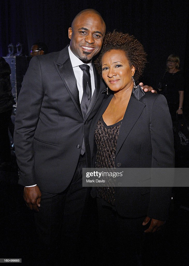 Wayne Brady and Wanda Sykes attend the 44th NAACP Image Awards at The Shrine Auditorium on February 1, 2013 in Los Angeles, California.