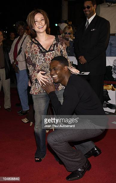 Wayne Brady wife Mandie during 'The Transporter' Premiere at Mann Village Theater in Westwood California United States