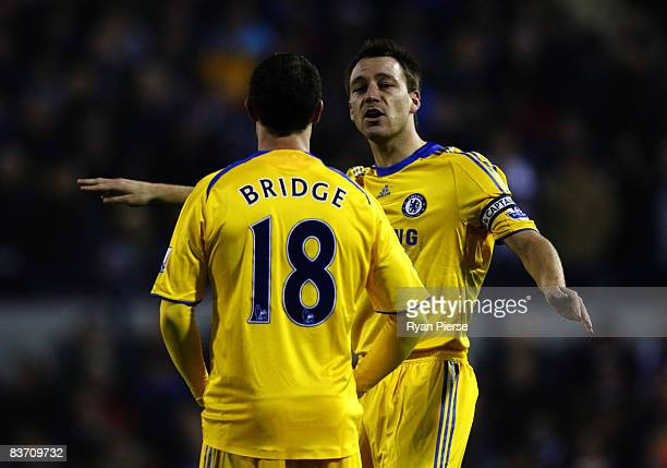 Wayne Bridge and John Terry of Chelsea during the Barclays Premier League match between West Bromwich Albion and Chelsea at The Hawthorns on November...
