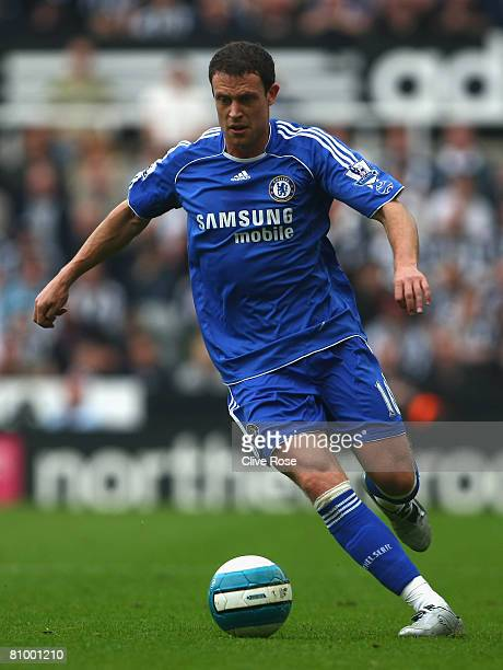 Wayne Bridge of Chelsea in action during the Barclays Premier League match between Newcastle United and Chelsea at St James' Park on May 5 2008 in...