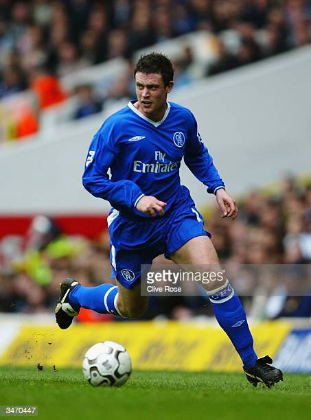 Wayne Bridge of Chelsea in action during the FA Barclaycard Premiership match between Tottenham Hotspur and Chelsea on April 3 2004 at White Hart...