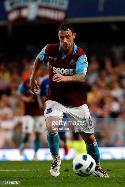 Wayne Bridge of West Ham in action during the Barclays Premier League match between Chelsea and West Ham United at Stamford Bridge on April 23 2011...