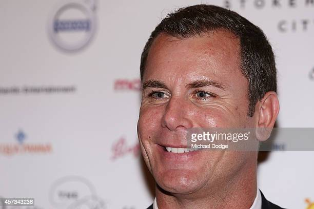 Wayne Carey poses at the 10th anniversary celebration of The Million Dollar Lunch at the Park Hyatt on October 17 2014 in Melbourne Australia