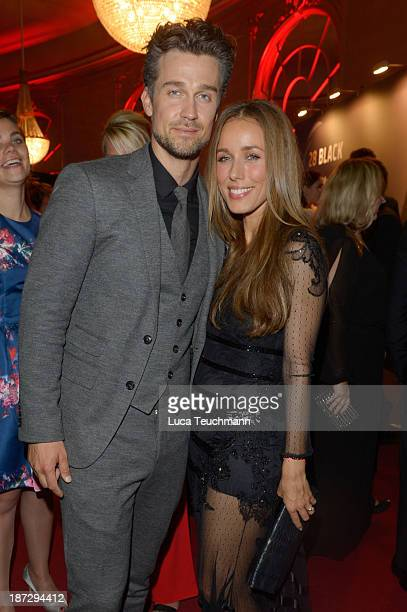 Wayne Carpendale and Annemarie Carpendale attend the after show party of the GQ Men Of The Year Award at Komische Oper on November 7 2013 in Berlin...