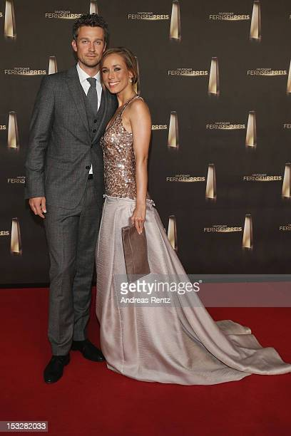 Wayne Carpendale and Annemarie Warnkross arrive for the German TV Award 2012 at Coloneum on October 2 2012 in Cologne Germany