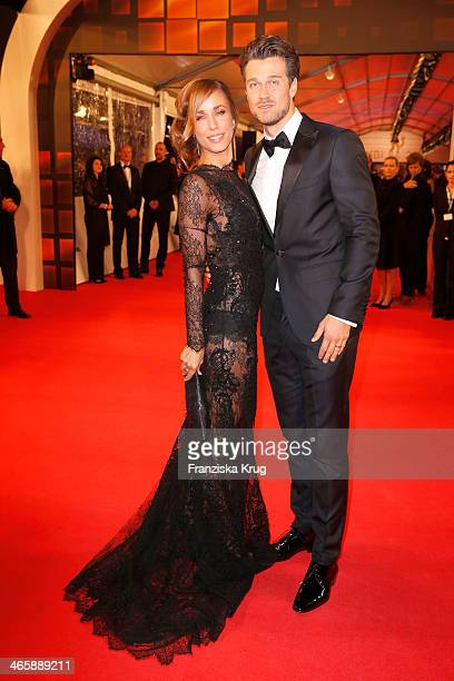 Wayne Carpendale and Annemarie Warnkross attend the Bambi Awards 2013 at Stage Theater on November 14 2013 in Berlin Germany