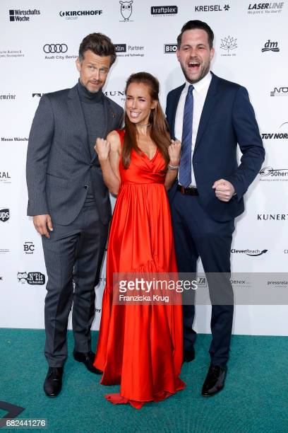 Wayne Carpendale Annemarie Carpendale and Matthias Killing during the GreenTec Awards at ewerk on May 12 2017 in Berlin Germany