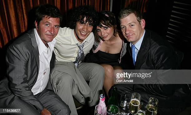 Wayne Cooper Bobby Morley Jess Tovey and Nicholas Hope attends the Kate Waterhouse Melbourne Cup Party at the Zeta Bar at The Hilton Hotel on...