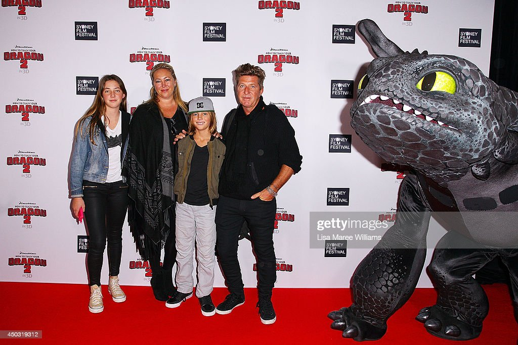 <a gi-track='captionPersonalityLinkClicked' href=/galleries/search?phrase=Wayne+Cooper&family=editorial&specificpeople=213458 ng-click='$event.stopPropagation()'>Wayne Cooper</a> (R),Sarah Marsh and family attend the 'How To Train Your Dragon 2' Australian premiere at Event Cinemas George Street on June 9, 2014 in Sydney, Australia.