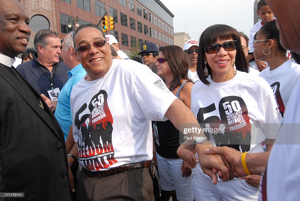 Wayne County (MI) sheriff and Detroit mayoral candidate Benny Napoleon attends the 50th Anniversary Freedom March on June 22, 2013 in Detroit, Michigan.