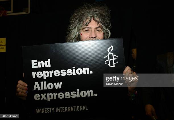 Wayne Coyne attends the Amnesty International Concert presented by the CBGB Festival at Barclays Center on February 5 2014 in New York City