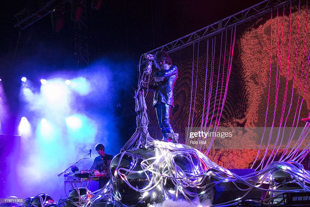 Wayne Coyne from the Flaming Lips performs at Day 2 of Bestival at Robin Hill Country Park on September 6, 2013 in Newport, Isle of Wight.