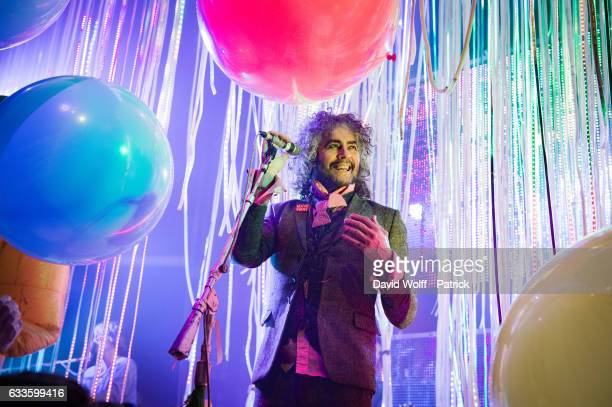 Wayne Coyne from The Flaming Lips performs at Le Bataclan on February 2 2017 in Paris France