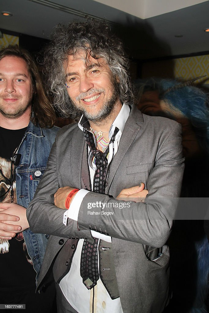 Wayne Coyne of the Flaming Lips backstage at The Warner Sound captured by Nikon during the 2013 SXSW Music, Film + Interactive Festival at The Belmont on March 14, 2013 in Austin, Texas.