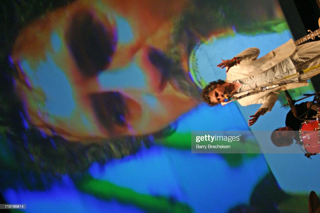 Wayne Coyne of The Flaming Lips during The 2004 Coachella Valley Music Festival - The Flaming Lips at Empire Polo Fields in Indio, California, United States.