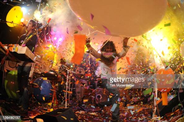 Wayne Coyne of The Flaming Lips performs as part of the 2012 Noise Pop Festival 20th Anniversary at Bimbo's 365 Club on February 21 2012 in San...