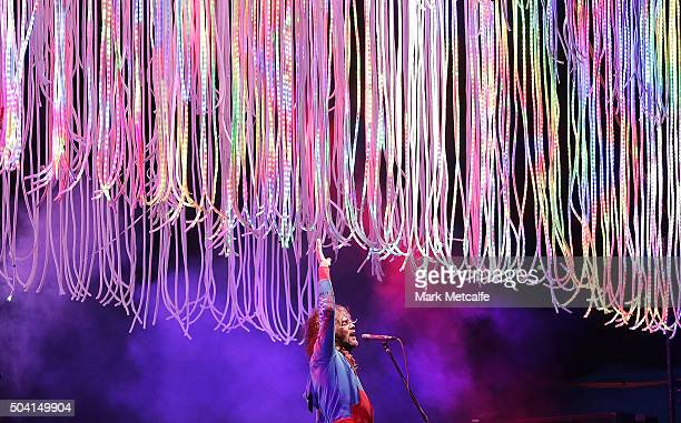 Wayne Coyne of The Flaming Lips performs at The Domain on January 9 2016 in Sydney Australia