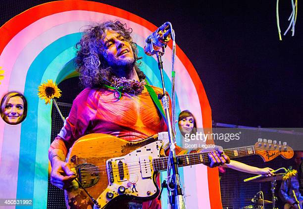 Wayne Coyne of The Flaming Lips performs at The Fillmore on June 12 2014 in Detroit Michigan