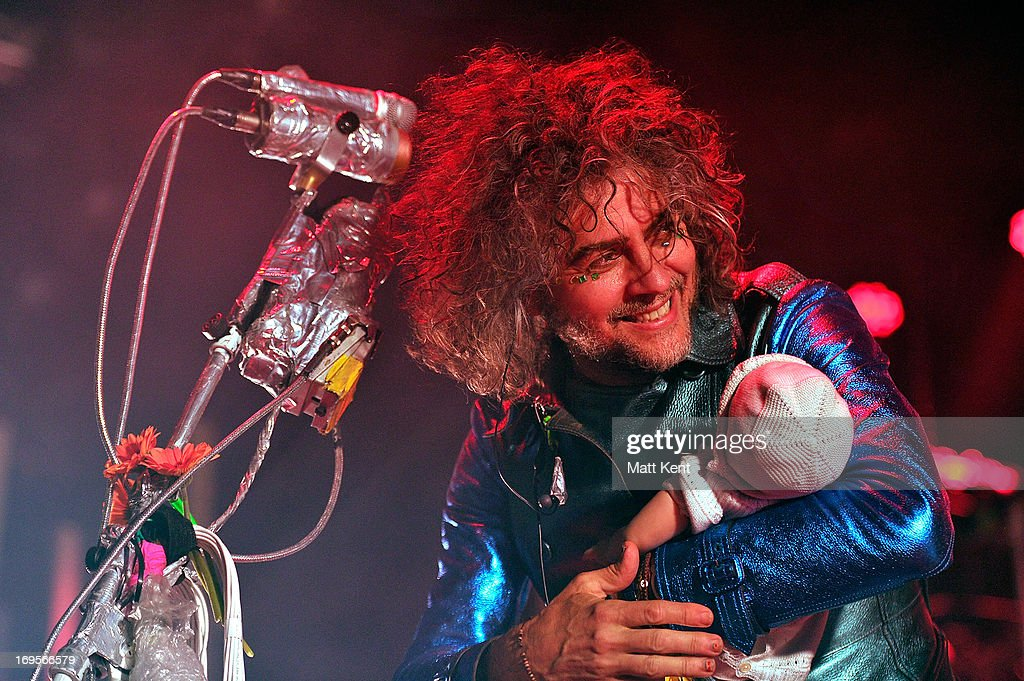 <a gi-track='captionPersonalityLinkClicked' href=/galleries/search?phrase=Wayne+Coyne&family=editorial&specificpeople=204435 ng-click='$event.stopPropagation()'>Wayne Coyne</a> of The Flaming Lips performs at The Roundhouse on May 27, 2013 in London, England.