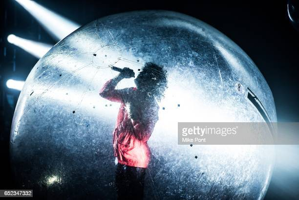 Wayne Coyne of The Flaming Lips performs at The Space at Westbury on March 11 2017 in Westbury New York