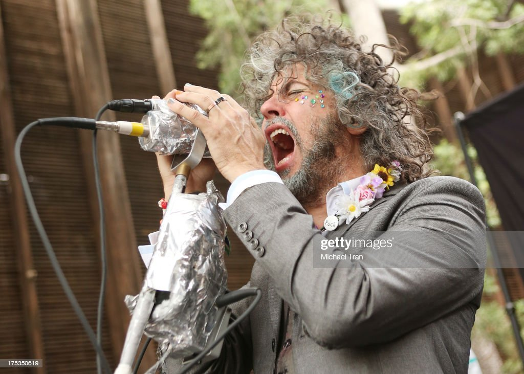 Wayne Coyne of The Flaming Lips performs at the Warner Bros Records 3rd Annual 'Summer Sessions' - Flaming Lips held on August 2, 2013 in Burbank, California.