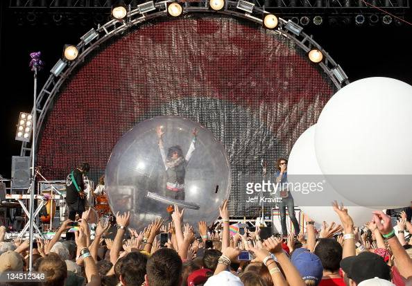 Wayne Coyne of The Flaming Lips performs during day one of Dave Matthews Band Caravan at Bader Field on June 24 2011 in Atlantic City New Jersey