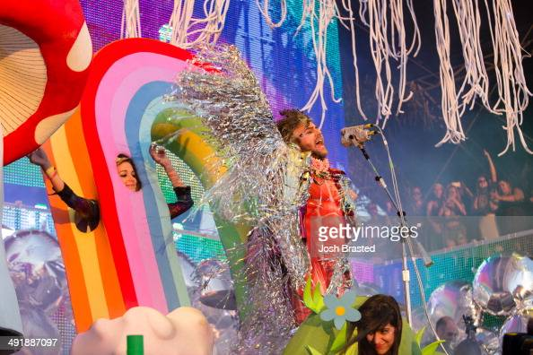 Wayne Coyne of The Flaming Lips performs during the 2014 Hangout Music Festival on May 17 2014 in Gulf Shores Alabama