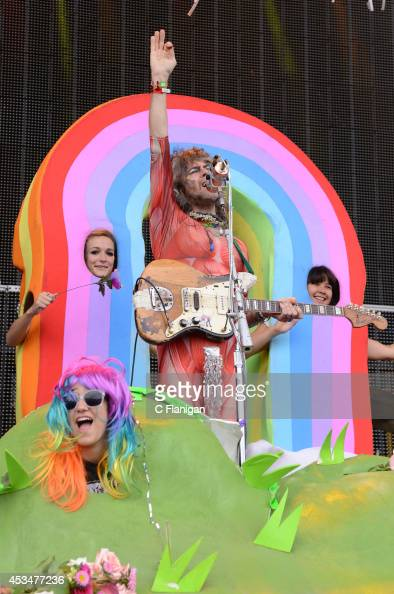 Wayne Coyne of The Flaming Lips performs during the 7th Annual Outside Lands Music Arts Festival at Golden Gate Park on August 10 2014 in San...
