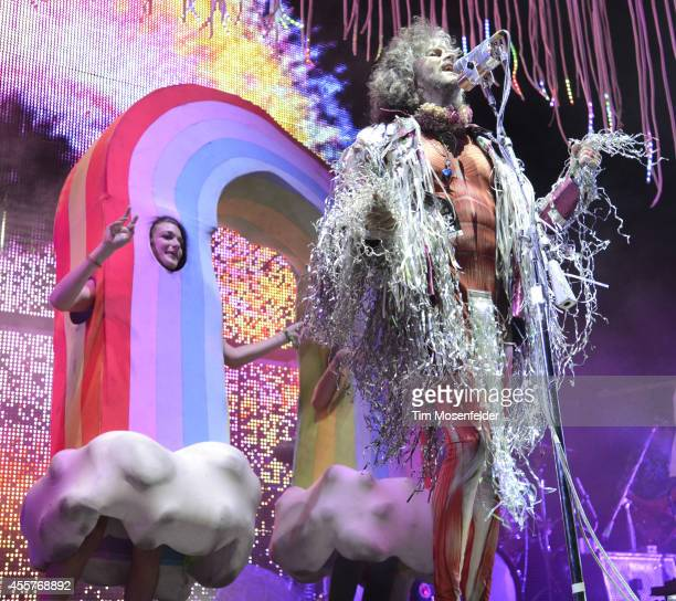 Wayne Coyne of The Flaming Lips performs during the Riot Fest Music Festival at Sports Authority Field at Mile High on September 19 2014 in Denver...