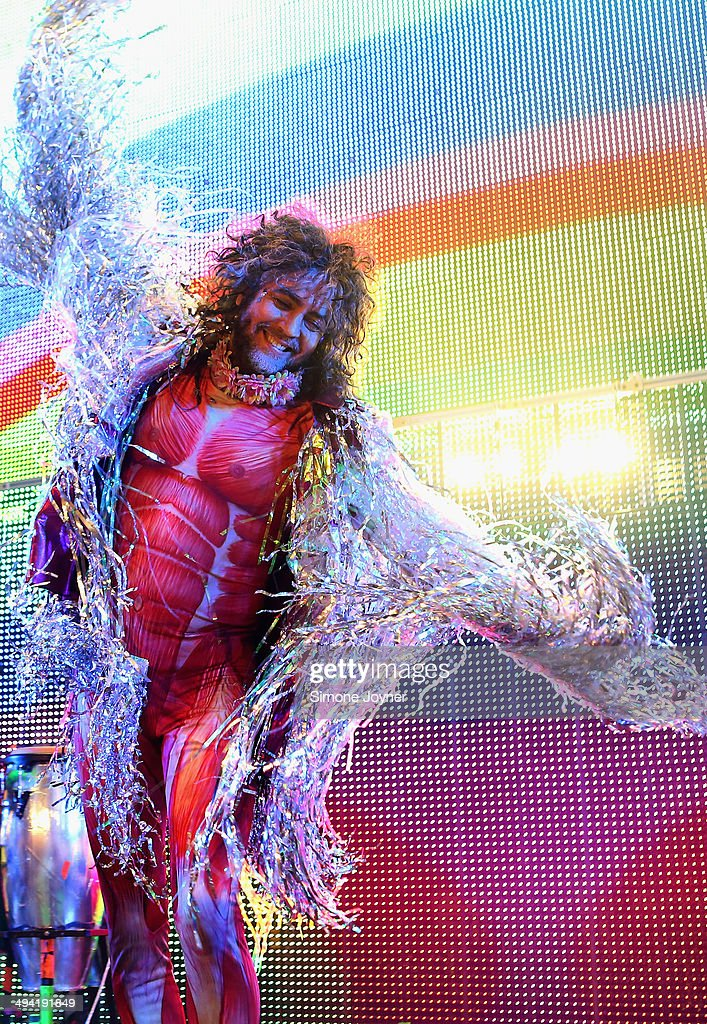 Wayne Coyne of The Flaming Lips performs live on stage at O2 Academy Brixton on May 28, 2014 in London, England.