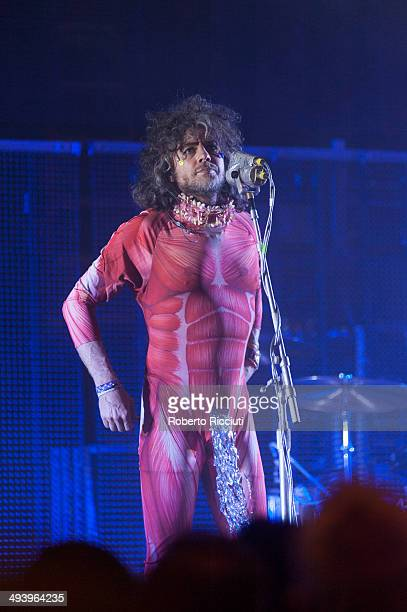Wayne Coyne of The Flaming Lips performs on stage at Usher Hall on May 26 2014 in Edinburgh United Kingdom