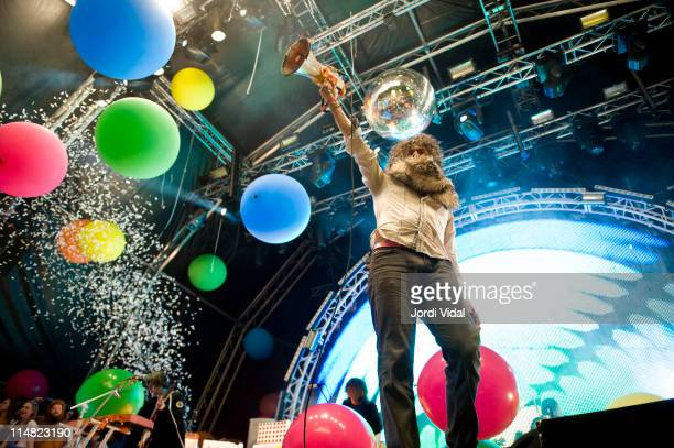 Wayne Coyne of The Flaming Lips performs on stage during the second day of Primavera Sound Festival at Parc del Forum on May 26 2011 in Barcelona...
