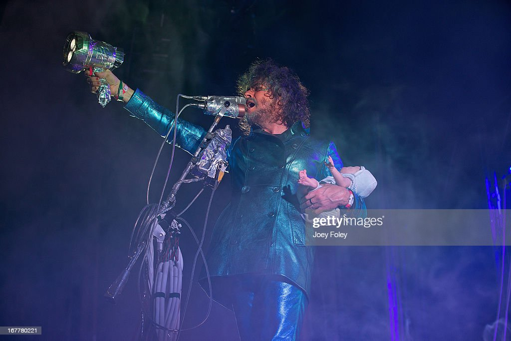 <a gi-track='captionPersonalityLinkClicked' href=/galleries/search?phrase=Wayne+Coyne&family=editorial&specificpeople=204435 ng-click='$event.stopPropagation()'>Wayne Coyne</a> of The Flaming Lips performs onstage at Egyptian Room at Old National Centre on April 29, 2013 in Indianapolis, Indiana.