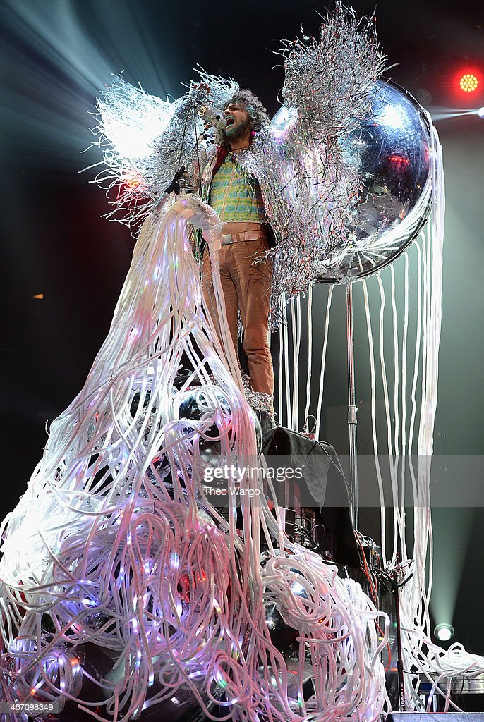 <a gi-track='captionPersonalityLinkClicked' href=/galleries/search?phrase=Wayne+Coyne&family=editorial&specificpeople=204435 ng-click='$event.stopPropagation()'>Wayne Coyne</a> of The Flaming Lips performs onstage at the Amnesty International Concert presented by the CBGB Festival at Barclays Center on February 5, 2014 in New York City.