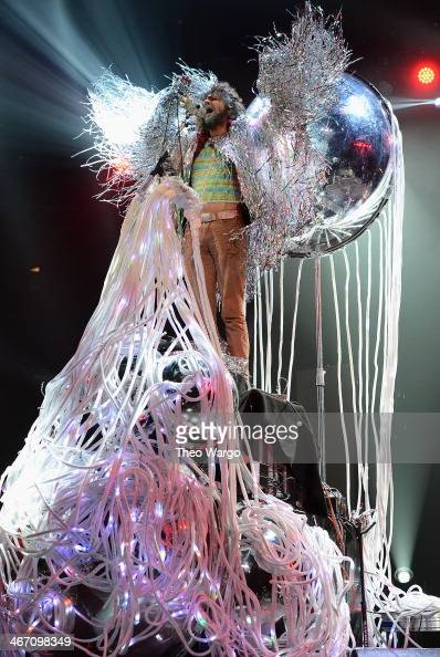Wayne Coyne of The Flaming Lips performs onstage at the Amnesty International Concert presented by the CBGB Festival at Barclays Center on February 5...