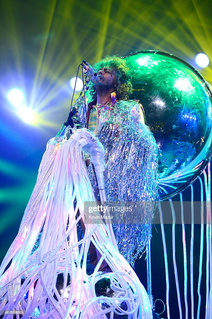 <a gi-track='captionPersonalityLinkClicked' href=/galleries/search?phrase=Wayne+Coyne&family=editorial&specificpeople=204435 ng-click='$event.stopPropagation()'>Wayne Coyne</a> of The Flaming Lips performs onstage during the Amnesty International Concert presented by the CBGB Festival at Barclays Center on February 5, 2014 in New York City.