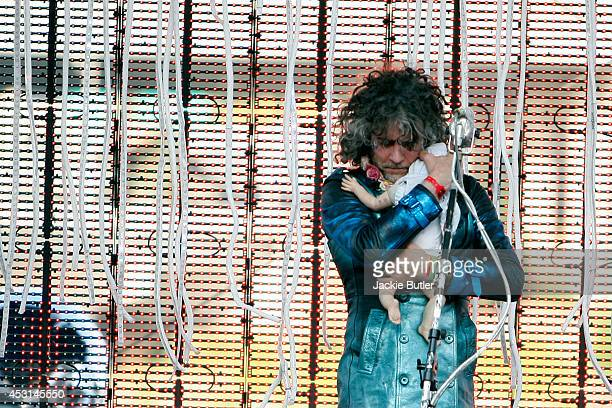 Wayne Coyne performs with The Flaming Lips at Tom McCall Waterfront Park on August 3 2014 in Portland Oregon