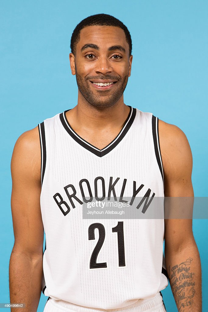 Wayne Ellington of the Brooklyn Nets poses for a photo during media day on September 28 2015 in East Rutherford NJ NOTE TO USER User expressly...