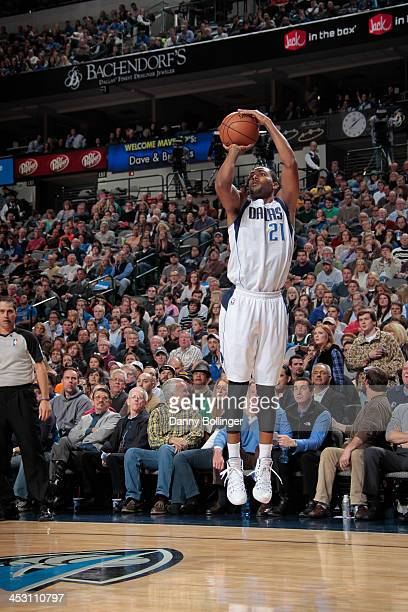 Wayne Ellington of the Dallas Mavericks shoots the ball against the Denver Nuggets on November 25 2013 at the American Airlines Center in Dallas...