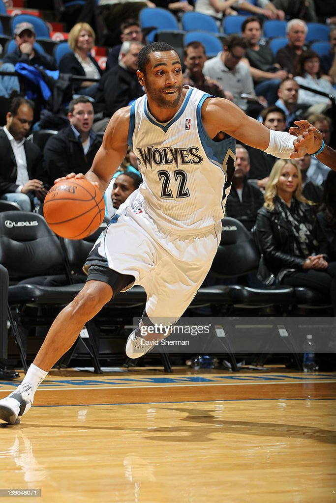 <a gi-track='captionPersonalityLinkClicked' href=/galleries/search?phrase=Wayne+Ellington&family=editorial&specificpeople=2351537 ng-click='$event.stopPropagation()'>Wayne Ellington</a> #22 of the Minnesota Timberwolves controls the ball during the game against the Charlotte Bobcats on February 15, 2012 at Target Center in Minneapolis, Minnesota.