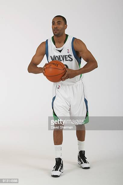 Wayne Ellington of the Minnesota Timberwolves poses for a portrait during 2009 NBA Media Day on September 28 2009 at Target Center in Minneapolis...
