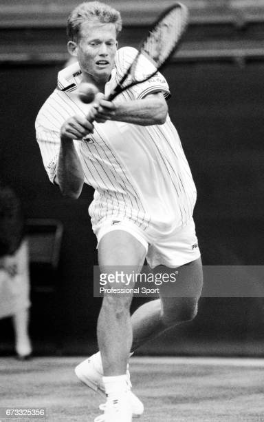 Wayne Ferreira of South Africa in action during the Wimbledon Championships held at the All England Lawn Tennis and Croquet Club in Wimbledon London...