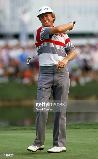 Wayne Grady of Australia wins the USPGA Championship at Shoal Creek in Birmingham Alabama USA in August 1990
