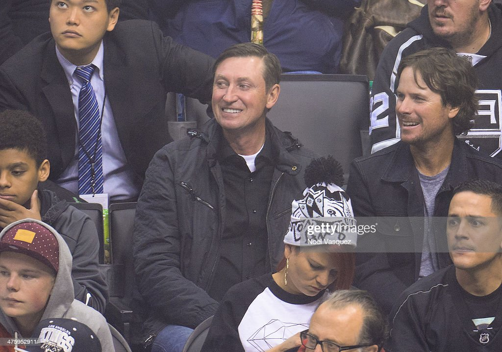 Wayne Gretzky attends a hockey game between the Carolina Hurricanes and the Los Angeles Kings at Staples Center on March 1, 2014 in Los Angeles, California.