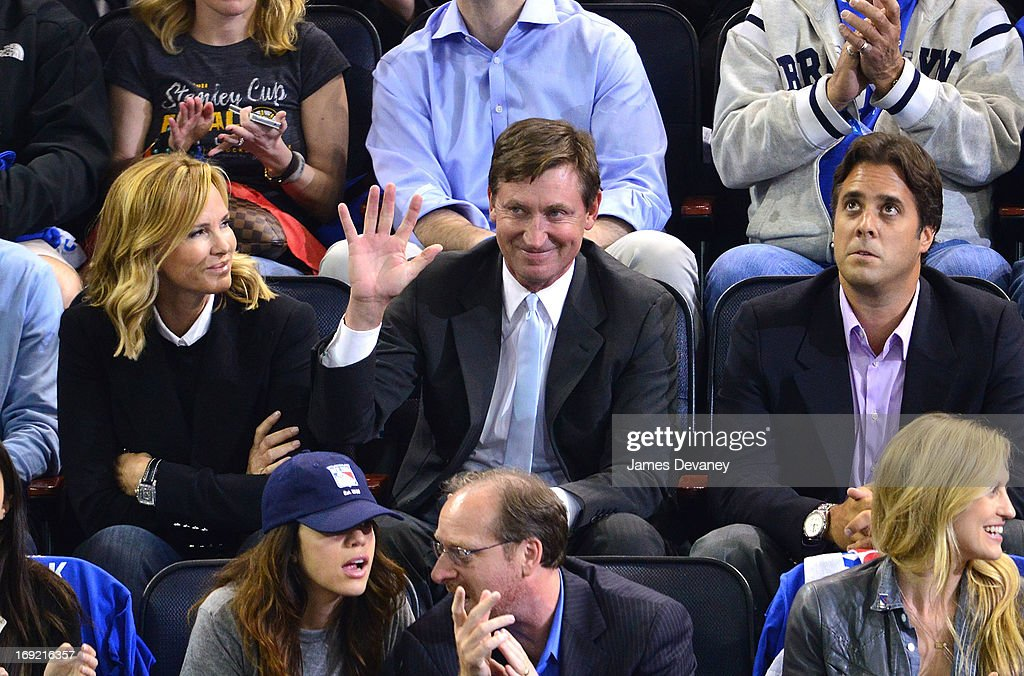 Wayne Gretzky attends the Boston Bruins Vs New York Rangers game at Madison Square Garden on May 21, 2013 in New York City.