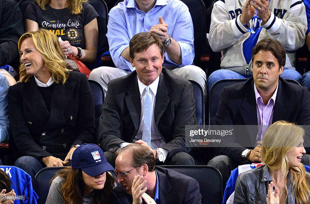 <a gi-track='captionPersonalityLinkClicked' href=/galleries/search?phrase=Wayne+Gretzky+-+Ice+Hockey+Player&family=editorial&specificpeople=157520 ng-click='$event.stopPropagation()'>Wayne Gretzky</a> attends the Boston Bruins Vs New York Rangers game at Madison Square Garden on May 21, 2013 in New York City.
