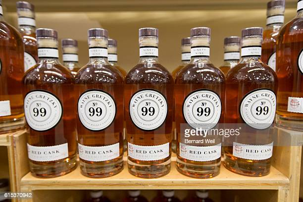 TORONTO ON OCTOBER 17 Wayne Gretzky launched his new No 99 Canadian Whisky at the Maple Leaf Square LCBO