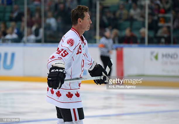 Wayne Gretzky of Canada during the friendly match between Canada Team and USSR Team during the 40th anniversary of Summit Series 1972 on September 5...
