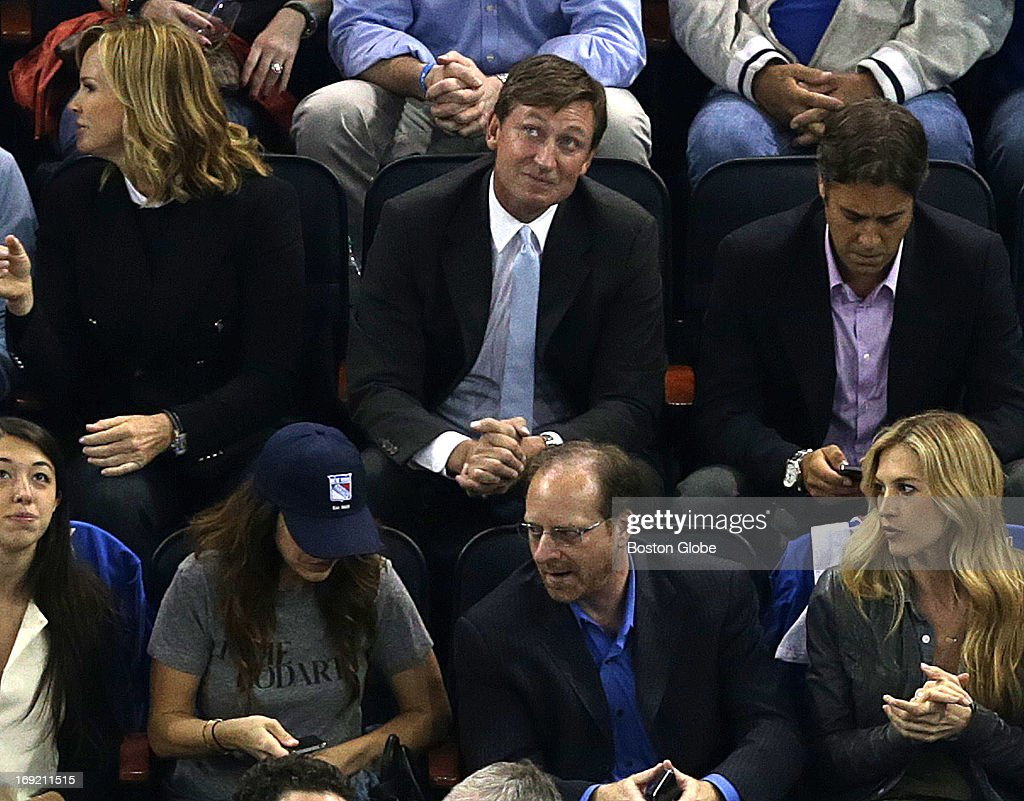 Wayne Gretzky was in attendance for today's game. The Boston Bruins take on the New York Rangers in Game Three of The Eastern Conference semifinals at Madison Square Garden.